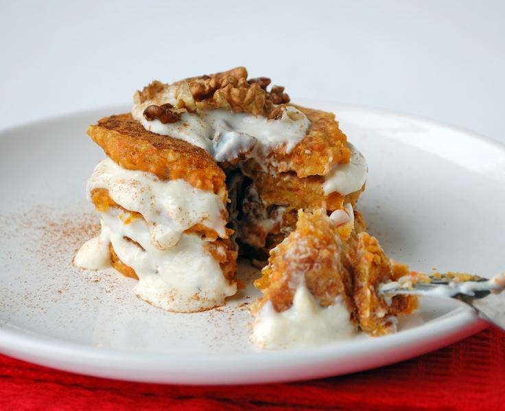 Healthy Vegan Carrot Cake Pancakes | breakfast queen. | Pinterest