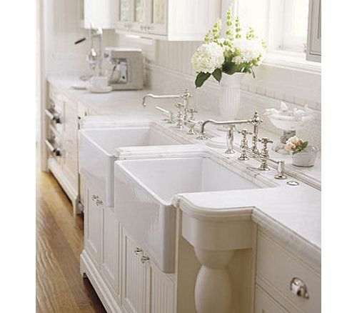 Farmhouse Double Sink : double farmhouse sinks House Ideas Pinterest