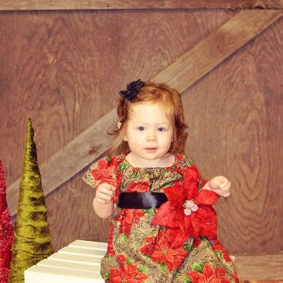 Infant Holiday Poinsettia Dress #Christmas #holiday #dress #red #black #gold