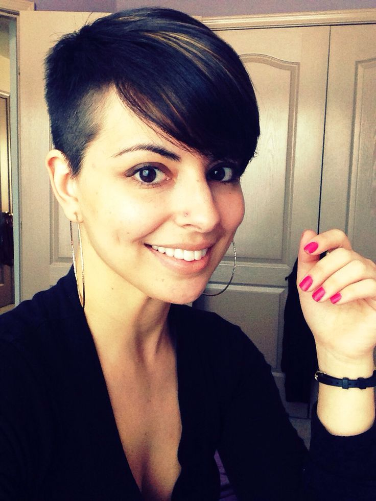 Short Pixie Cut With Side Bangs   newhairstylesformen2014.com