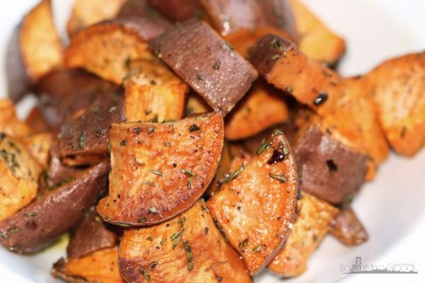 Herb Roasted Sweet Potatoes ♥ Epicurious (Community Table) via So ...