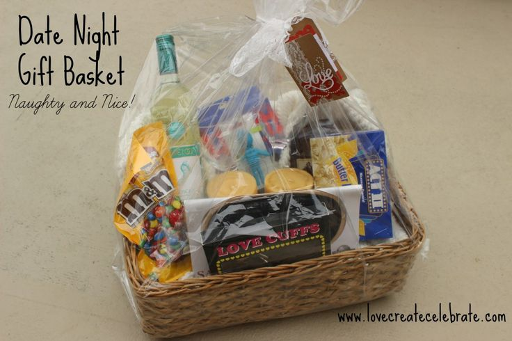 Date Night Gift For Wedding : ... date night gift basket for a wedding, shower, stagette or bachelorette