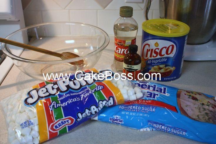 marshmallow fondant recipes for cakes