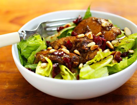 slow cooker pomegranate chicken salad from The Perfect Pantry (yum!)