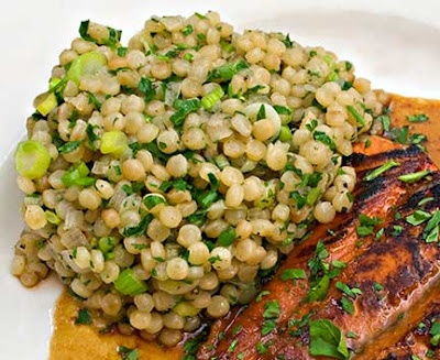 pomegrante Salmon and couscous | sweets | Pinterest