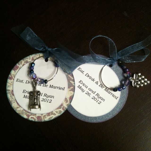 wine charm favors winery wedding for erica