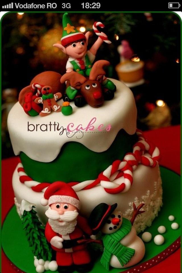Cute Christmas Cake Images : Cute Christmas cake. Let Them Eat Cake! Pinterest