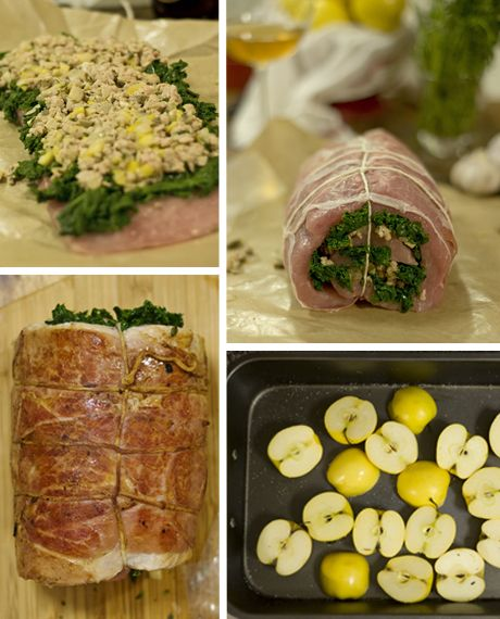 Proscuitto-Wrapped Pork Loin with Roasted Apples