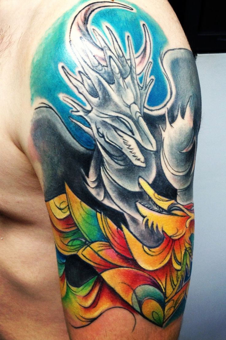 Pin by daniel vazquez on phoenix back tattoos pinterest for Fusion tattoo ink