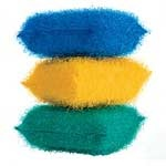 """""""These Scouring Pads turn up the tone by the sink and are tough on grease.""""  $1 each conranusa.com"""