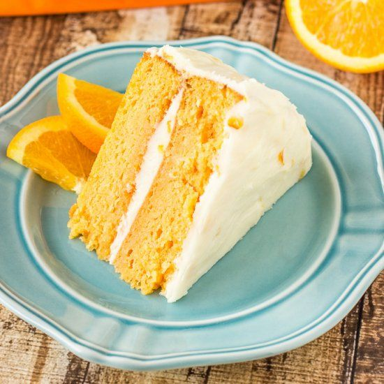 Orange Cream Cake | yummy | Pinterest