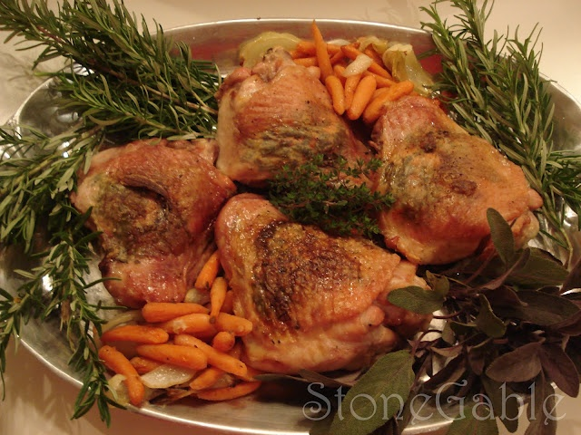 Roasted Turkey Thighs wth Herb Butter | Things To Do | Pinterest