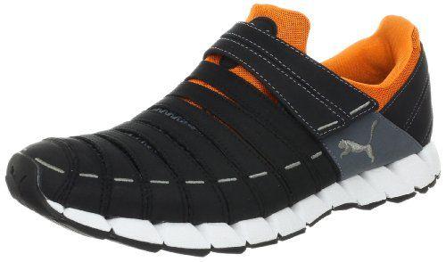 PUMA Men's Osu NM Running Shoe,Black/Turbulence/Orange Popsic,7 D US