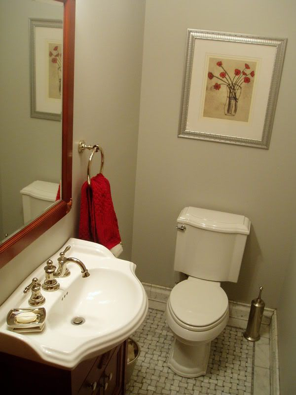 floor tile Powder room Pinterest
