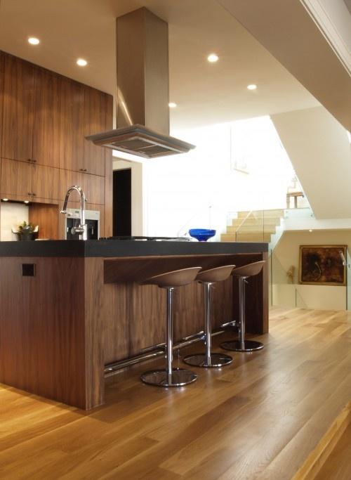 Walnut cabinets modern kitchen pinterest for Walnut kitchen cabinets