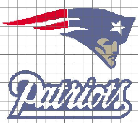 Free Crochet Pattern For New England Patriots Afghan : New England Patriots Graph/Chart Pattern