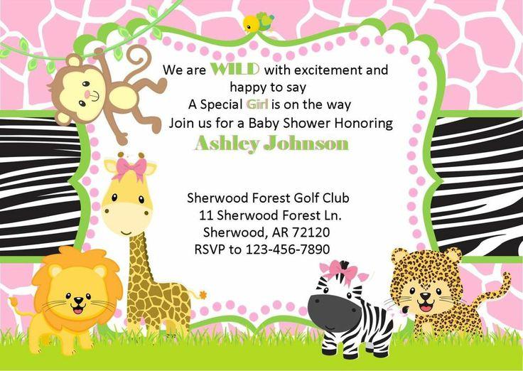 baby shower invitation jungle theme shower