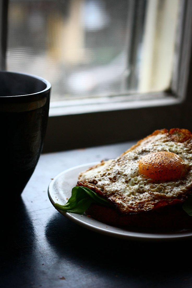 open face egg sandwich | It came to me in a Dream | Pinterest