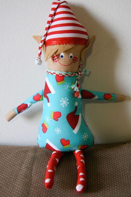 The Blind Stitch: Christmas Elves! | The Blind Stitch: Handmade Softi ...