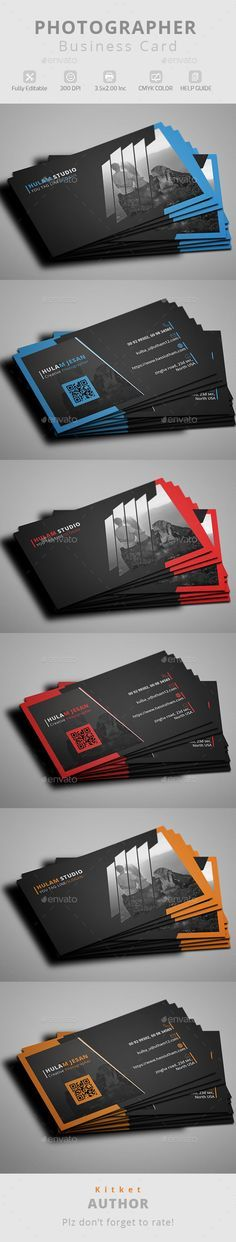 Photographer Business Cards Templates Free