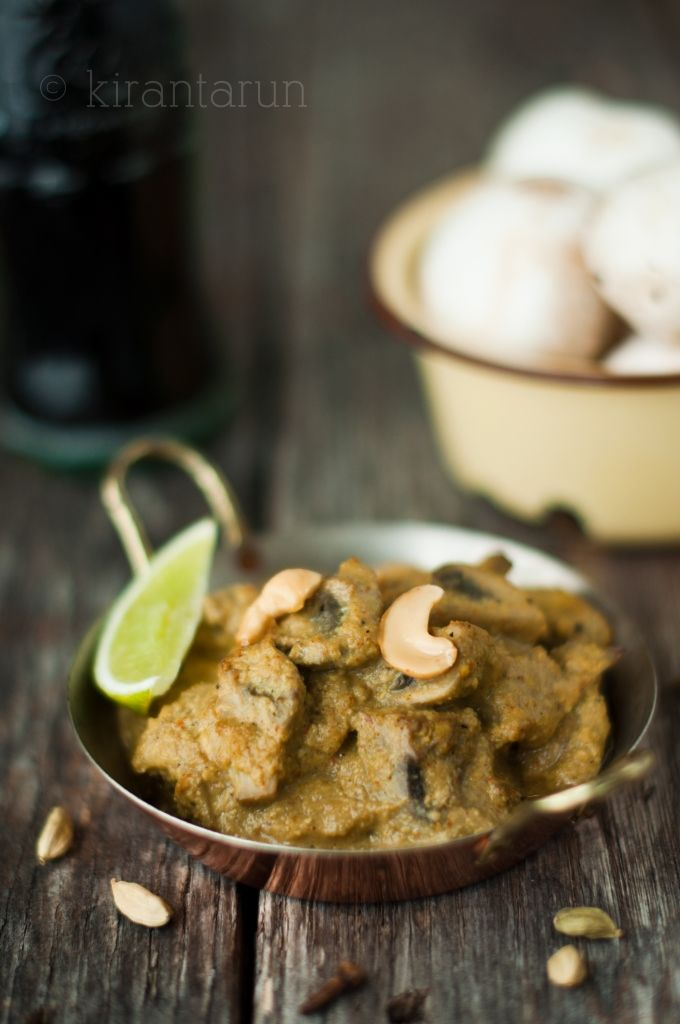 Hello, Mushrooms in Spiced Cashew Cream Sauce. Please spice up our ...