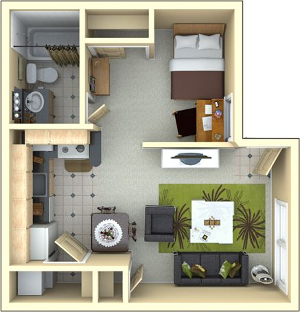 New York Style Loft Apartment For Rent likewise 2 Bedroom Bath Ranch Style House Plans also Sml Studio37 Floorplan Via Smallhousebliss as well Tiny House Plans Under 400 Sq Ft furthermore 20x20 Floor Plans 1 Bedroom. on 400 ft studio plans