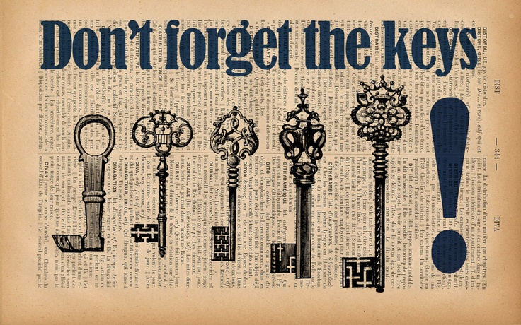 how to not forget your keys
