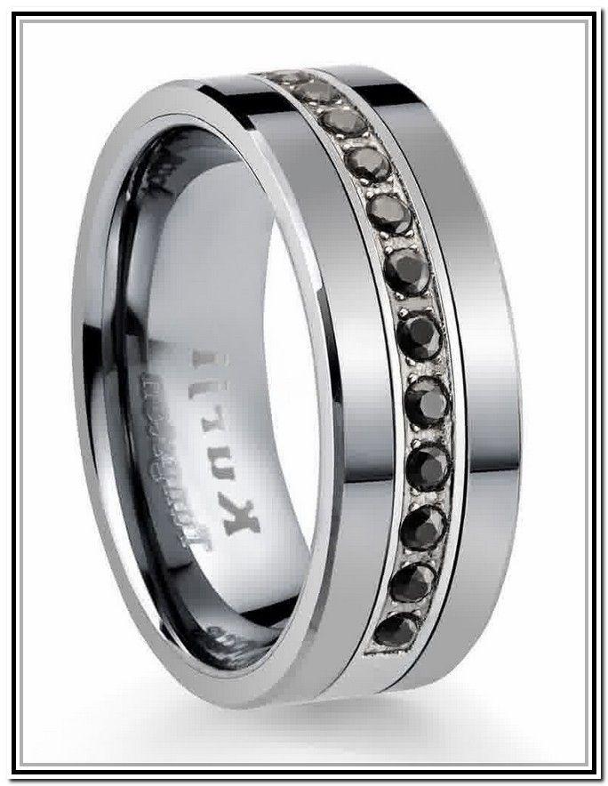 Mens Black Diamond Wedding Bands Uk