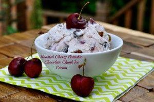 Food Girl   Roasted Cherry and Pistachio Chocolate Chunk Ice Cream ...