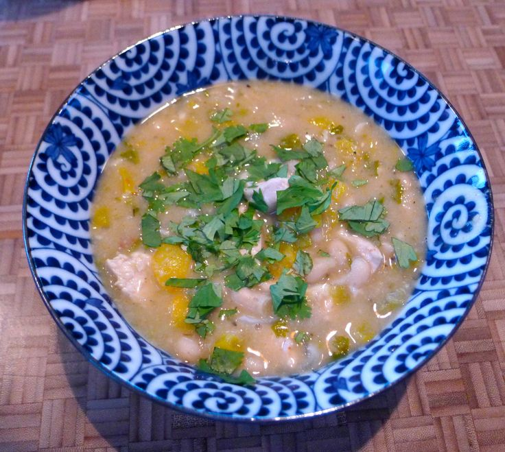 One-pot wonder: White Chicken Chili with fire roasted green chiles and ...