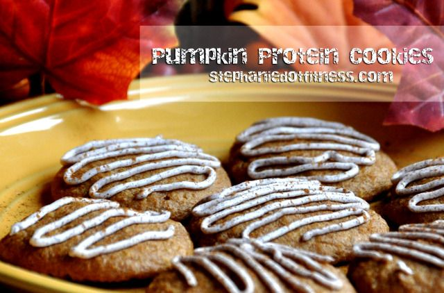 Pumpkin Protein Cookies with Cream Cheese Frosting by ...