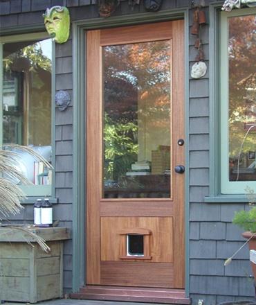 Entry Door With Pet Door For The Home Pinterest