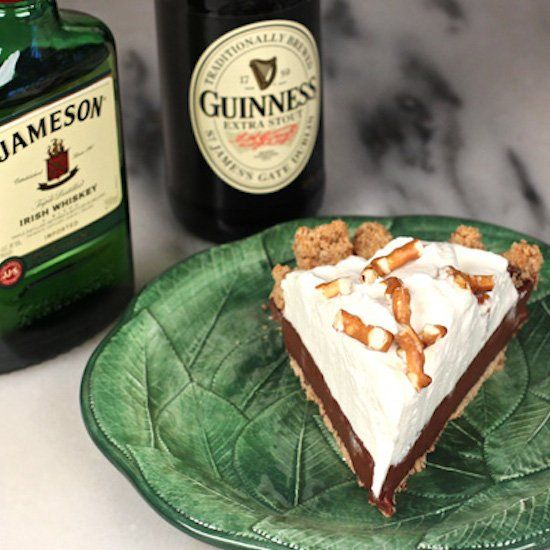 Chocolate stout pudding pie with Irish whiskey whipped cream and ...
