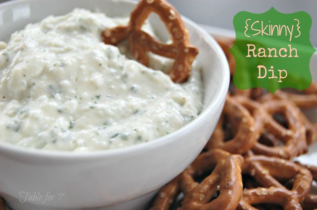 table for seven: {Skinny} Ranch Dip from Table for 7
