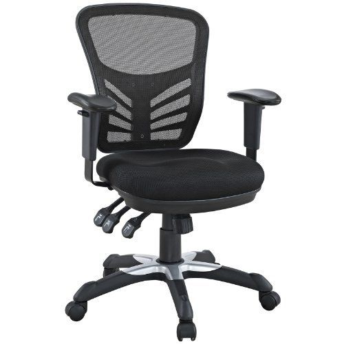mesh office chair by lexmod passive lumbar support height