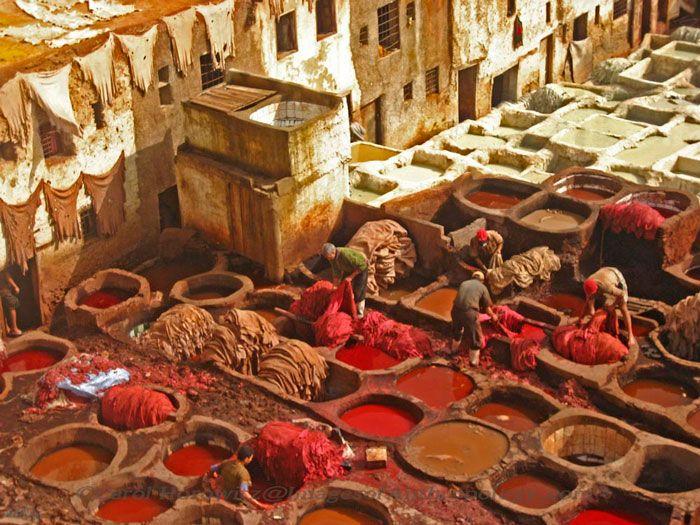 Morocco dye pits