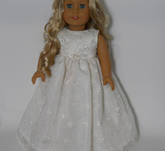 American girl doll clothes 18 inch doll clothes ivory for American girl wedding dress