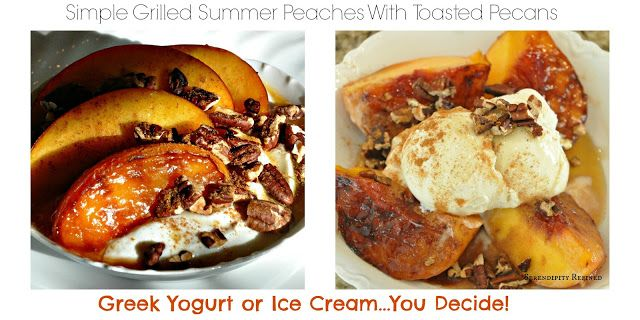 ... : Grilled Summer Peaches With Toasted Pecans and Maple Syrup Glaze
