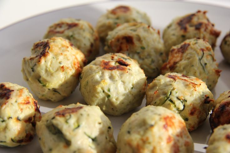 Chicken, Zucchini and Feta Balls | Food ideas | Pinterest