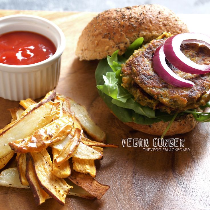 Vegan Burger small cup of lentils handful of spinach 1 onion 2 carrots ...