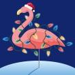 holiday flamingo | Beach Related Art Ideas | Pinterest
