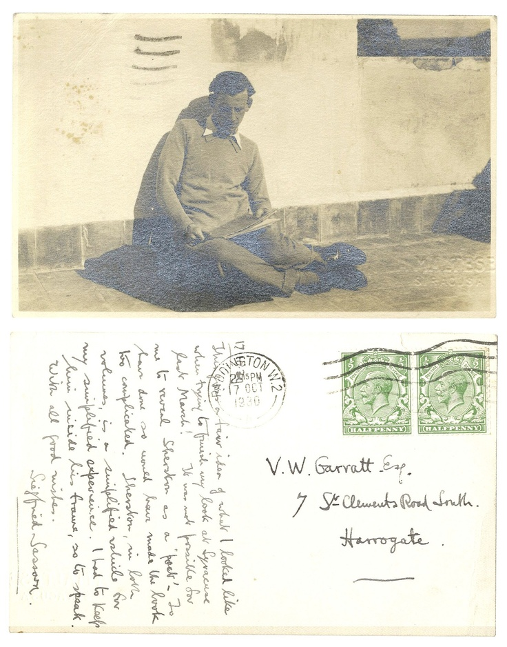Postcards of Siegfried Sassoon