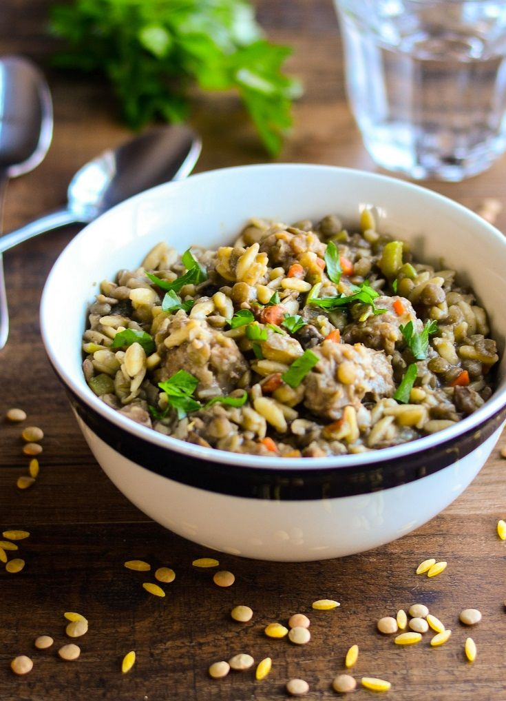 ... Sweet Italian Sausage with Lentils and Orzo- The Spice Kit Recipes