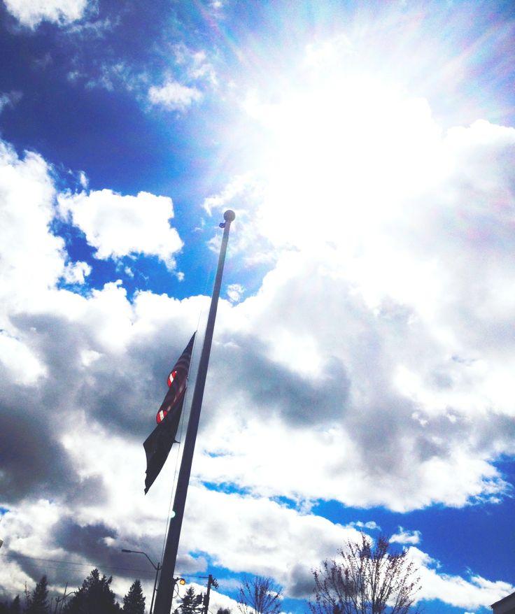 half mast flag veterans day
