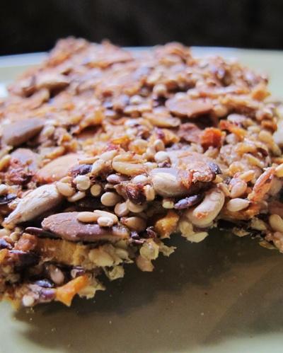 Homemade crackers with sweet potatoes, onion, sunflower seeds, quinoa ...