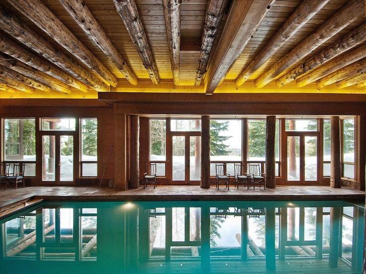 Log home indoor pool logcabins log cabins pinterest - Log cabins with indoor swimming pools ...