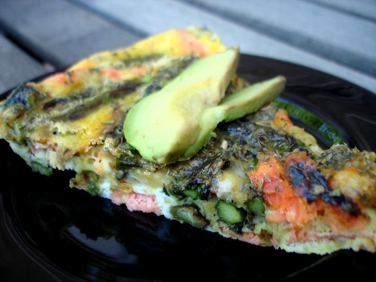 Grilled Salmon and Asparagus Frittata | Recipe