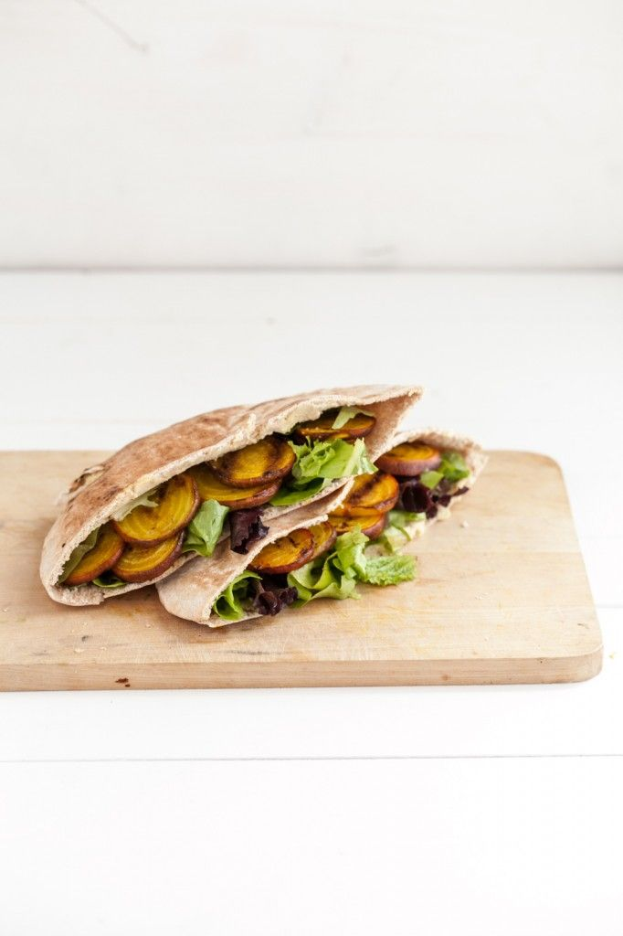 Naturally Ella | Grilled Beet and Hummus Stuffed Pita