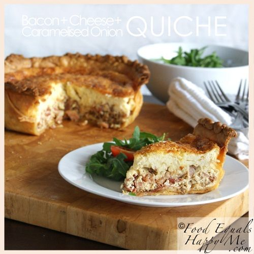 Bacon Cheese & Caramelized Onions Quiche | Recipes - sides | Pinterest