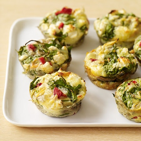 Frittatas with Feta, Artichokes and Spinach Recipe. 2 pts plus each ...